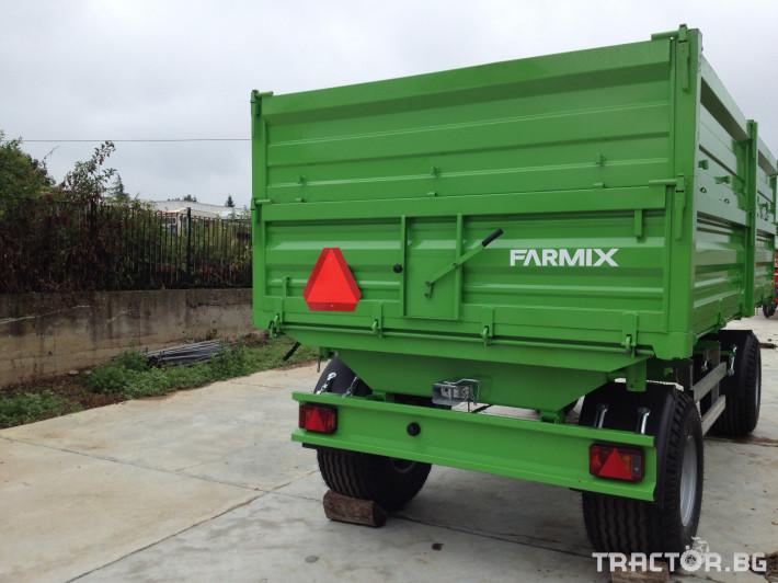 Ремаркета и цистерни Двуосно ремарке с тристранно разтоварване FARMIX F18 0