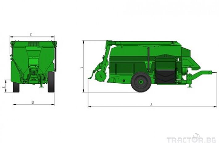 Машини за ферми Хоризонтален фуражен миксер FARESIN, модел Master 1200 0 - Трактор БГ